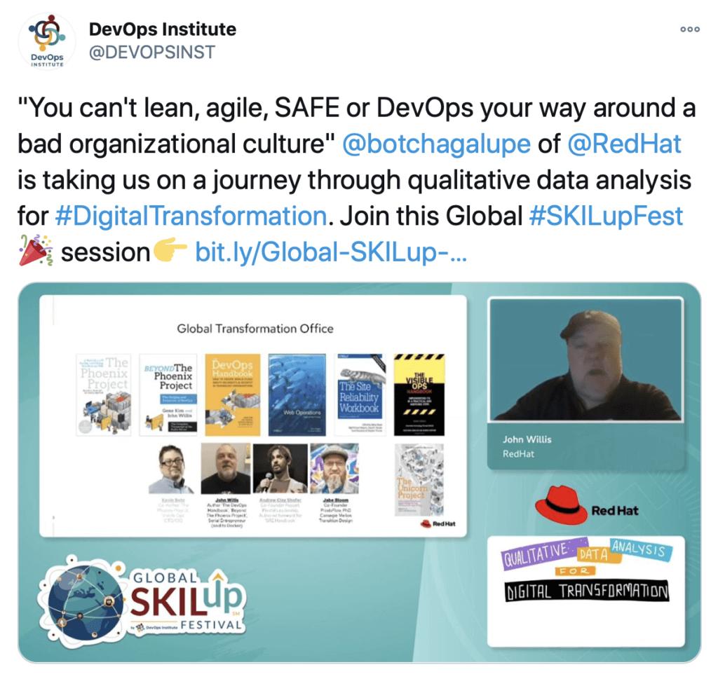 John Willis Global SKILup Fest Presentation