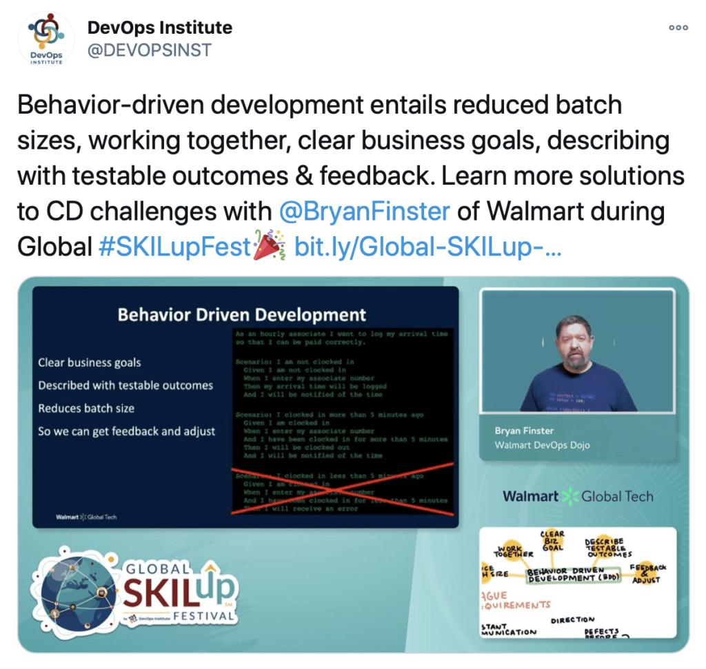 Bryan Finster of Walmart Global SKILup Fest Presentation